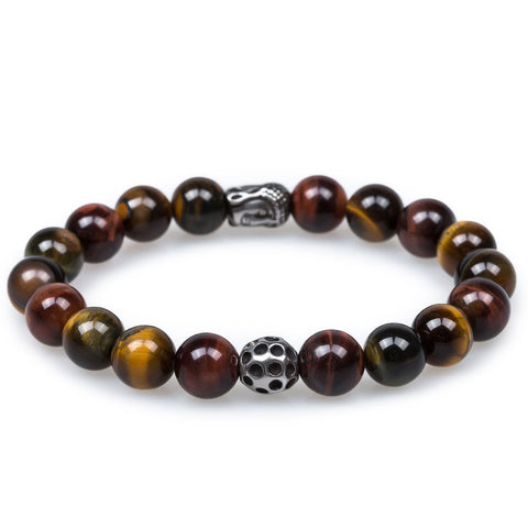Tiger's Eye with Lava Stone Bracelet