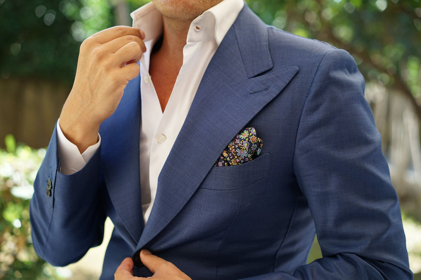 Tomba di Dante Floral Pocket Square