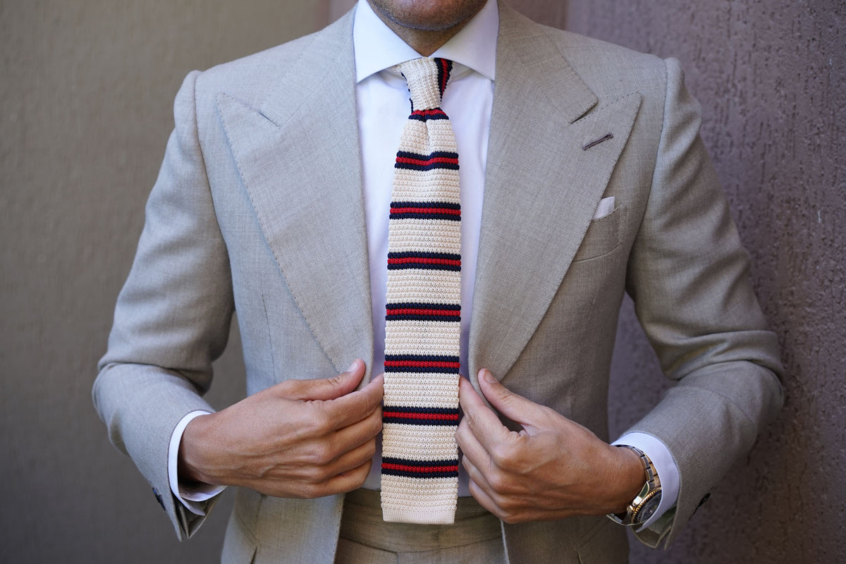Tommy DeVito Striped Knitted Tie