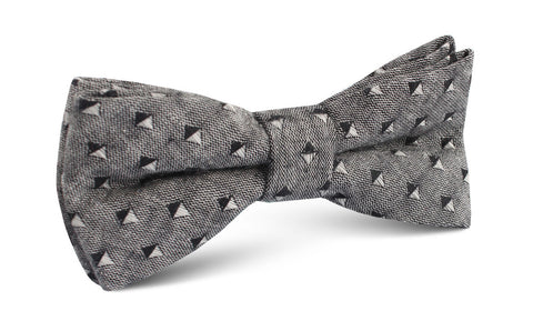 Totem Inception Black Linen Bow Tie