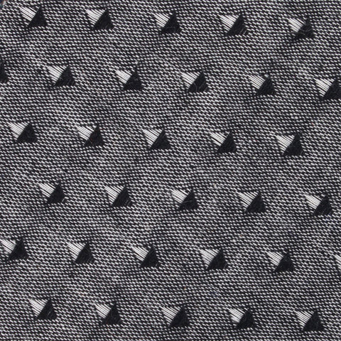 Totem Inception Black Linen Diamond Bow Tie
