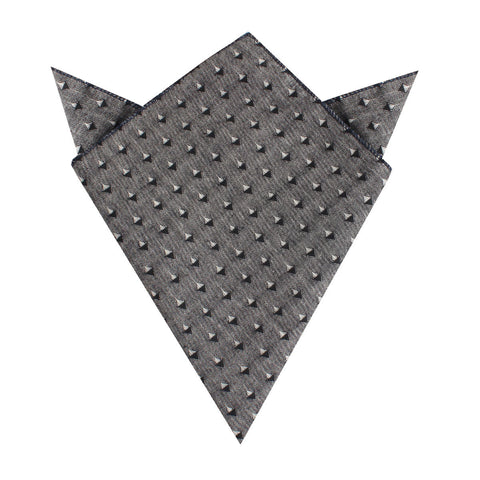 Totem Inception Black Linen Pocket Square