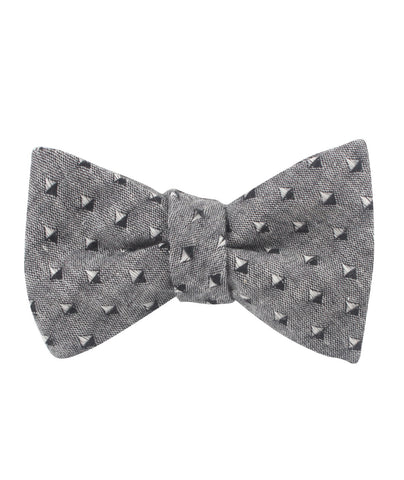 Totem Inception Black Linen Self Bow Tie