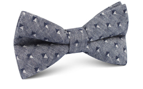 Totem Inception Navy Linen Bow Tie