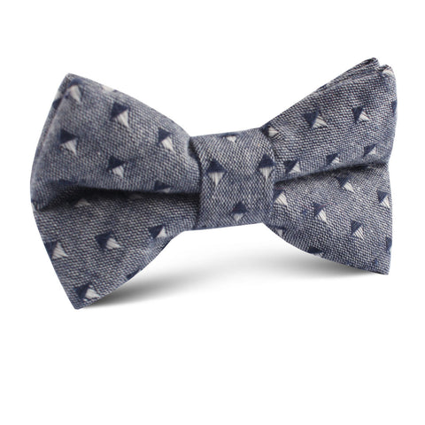Totem Inception Navy Linen Kids Bow Tie