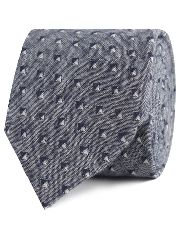 Totem Inception Navy Linen Tie