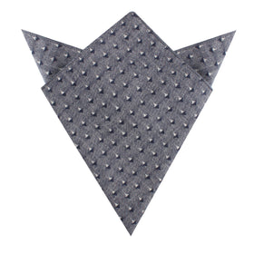 Totem Inception Navy Linen Pocket Square