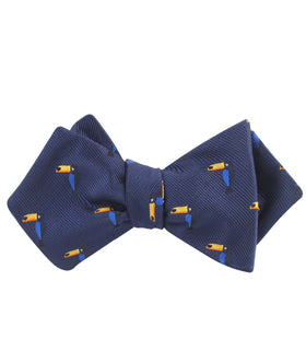 Toucan Bird Diamond Self Bow Tie