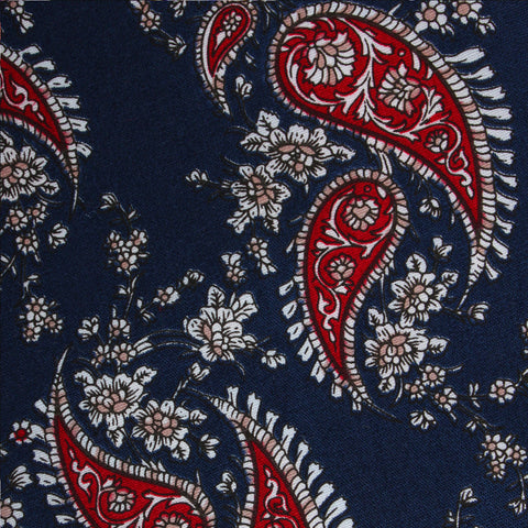 Trasimeno Blue with Red Paisley Kids Bow Tie