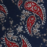 Trasimeno Blue with Red Paisley Fabric Pocket Square