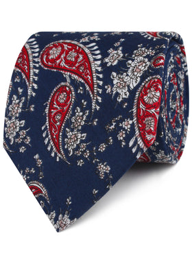 Trasimeno Blue with Red Paisley Tie