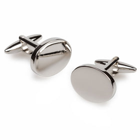 Trent Bridge Silver Oval Cufflinks