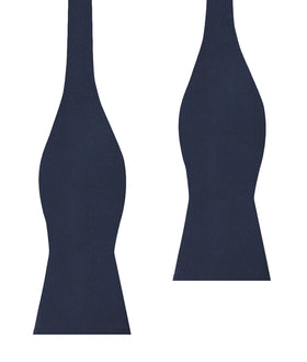 Trivieres Navy Blue Diamond Self Bow Tie