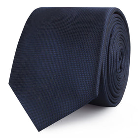 Trivieres Navy Blue Diamond Skinny Tie
