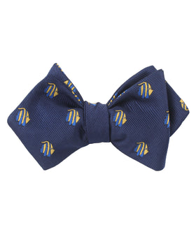Tropical Fijian Fish Diamond Self Bow Tie