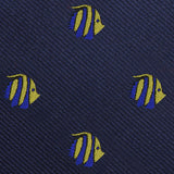 Tropical Fijian Fish Fabric Self Bowtie