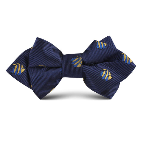 Tropical Fijian Fish Kids Diamond Bow Tie