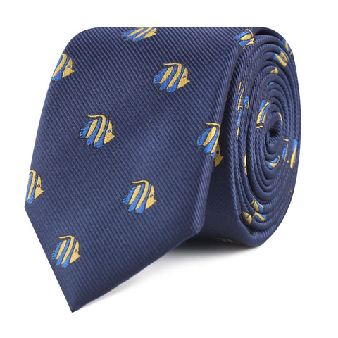 Tropical Fijian Fish Skinny Tie