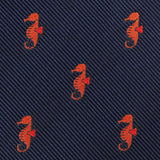 Tropical Seahorse Bow Tie Fabric