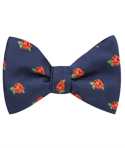Tropical Turtle Self Bow Tie