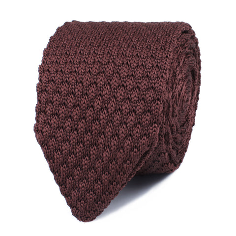 Trouvaille Brown Knitted Tie