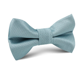 Turkish Teal Blue Weave Kids Bow Tie