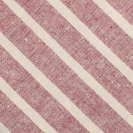 Turkish Delight Red Stripe Linen Diamond Bow Tie