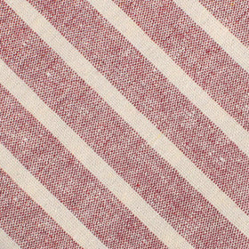 Turkish Delight Red Stripe Linen Pocket Square