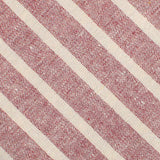 Turkish Delight Red Stripe Linen Fabric Pocket Square