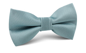 Turkish Teal Blue Weave Bow Tie