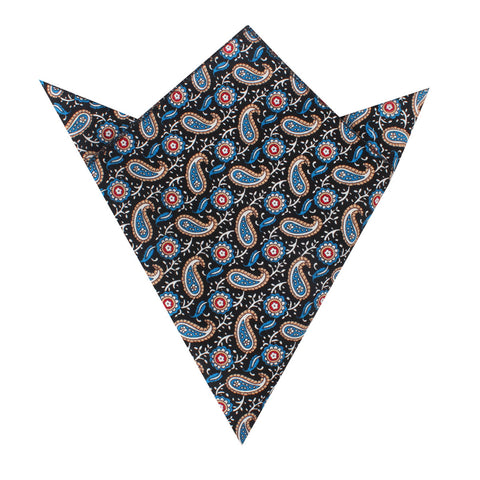Turkmenistan Paisley Pocket Square