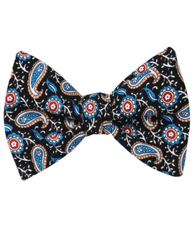 Turkmenistan Paisley Self Bow Tie