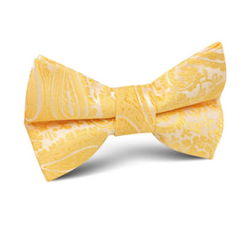 Tuscan Sun Yellow Paisley Kids Bow Tie