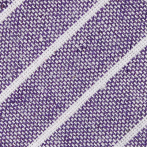 Tyrian Linen Purple Pinstripe Diamond Bow Tie