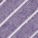 Tyrian Linen Purple Pinstripe Fabric Self Bowtie
