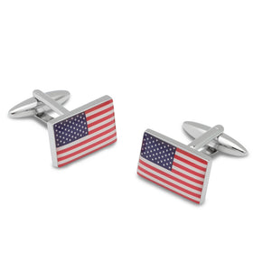 USA Stars and Stripes Cufflinks