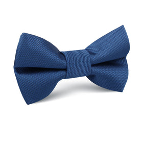 Ultramarine Classic Navy Blue Weave Kids Bow Tie