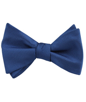 Ultramarine Classic Navy Blue Weave Self Bow Tie