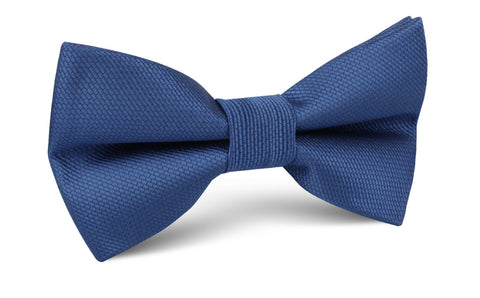 White Steel Blue and Blue-Grey Paisley Woven Pre-Tied Bow Tie