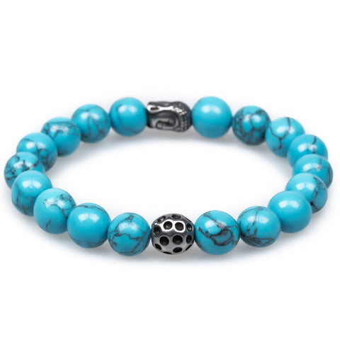 Valley of the Kings Blue Turquoise Buddha Bracelet