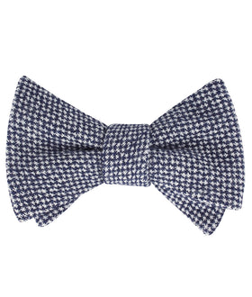 Van Gogh Midnight Blue Star Linen Self Bow Tie