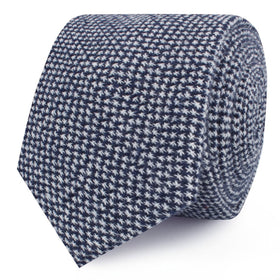 Van Gogh Midnight Blue Star Linen Skinny Tie