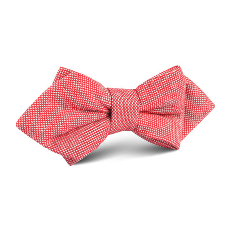 Venetian Red Linen Diamond Bow Tie