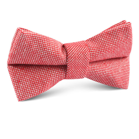 Venetian Red Linen Kids Bow Tie