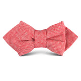 Venetian Red Linen Kids Diamond Bow Tie
