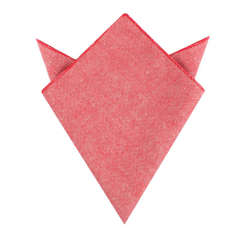 Venetian Red Linen Pocket Square