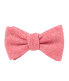 Venetian Red Linen Self Tied Bowtie