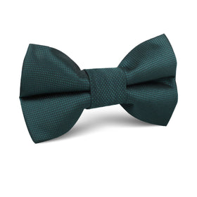 Venice Dark Green Diamond Kids Bow Tie