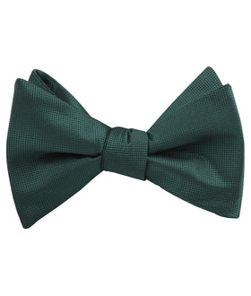 Venice Dark Green Diamond Self Bow Tie