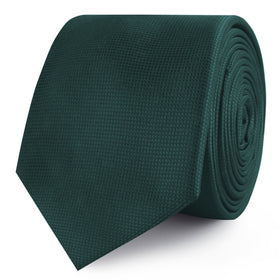 Venice Dark Green Diamond Skinny Tie